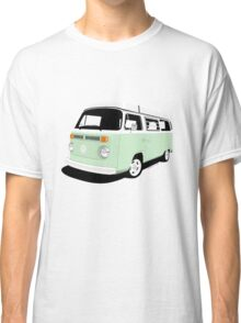 VW Camper Late Bay pale green and white Classic T-Shirt