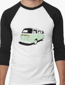 VW Camper Late Bay pale green and white Men's Baseball ¾ T-Shirt