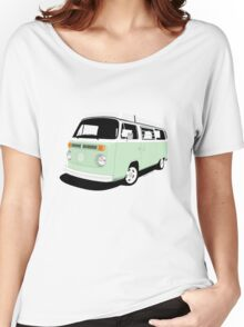 VW Camper Late Bay pale green and white Women's Relaxed Fit T-Shirt