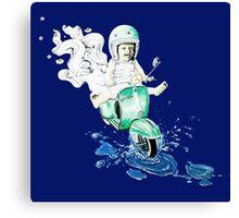 VESPA : baby biker Canvas Print