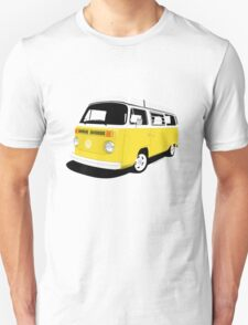 VW Camper Late Bay yellow and white Unisex T-Shirt