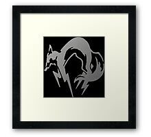 FoxHound Grey- Metal Gear Framed Print