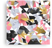 Cool geometric abstract pattern Canvas Print