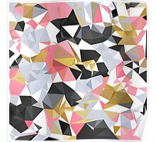 Cool geometric abstract pattern Poster