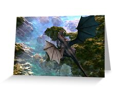 Dragon over Seascape Greeting Card