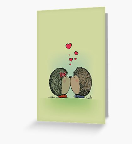 Hedgehogs in love Greeting Card