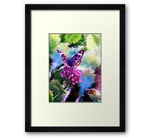Bright Colorful Butterfly Art Framed Print