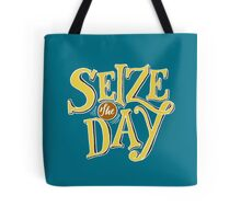 Seize The Day - Yellow Text Tote Bag