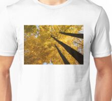 Golden Canopy - Three Trees Horizontal Unisex T-Shirt
