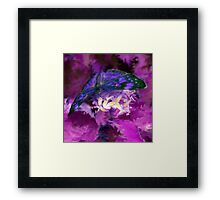 Abstract Purple Butterfly Art Framed Print