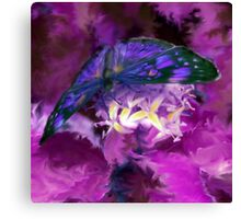 Abstract Purple Butterfly Art Canvas Print