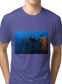 Diver at the MS Zenobia shipwreck.  Tri-blend T-Shirt