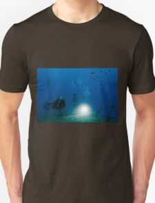 Diver at the MS Zenobia shipwreck.  Unisex T-Shirt