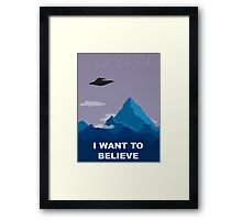 I WANT TO BELIEVE DRAWING Framed Print