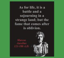 As For Life It Is A Battle - Marcus Aurelius Baby Tee