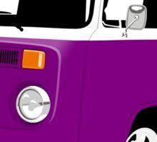 VW Camper Late Bay purple and white Sticker