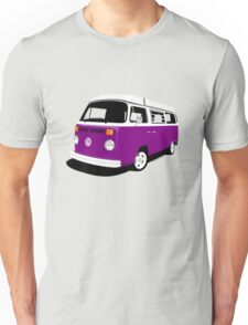 VW Camper Late Bay purple and white Unisex T-Shirt