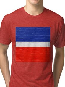 minimalist red, white and blue Tri-blend T-Shirt