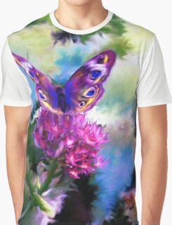 Bright Colorful Butterfly Art Graphic T-Shirt
