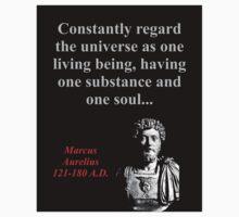 Constantly Regard The Universe - Marcus Aurelius Kids Tee