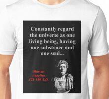 Constantly Regard The Universe - Marcus Aurelius Unisex T-Shirt