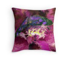Purple Butterfly Art Throw Pillow