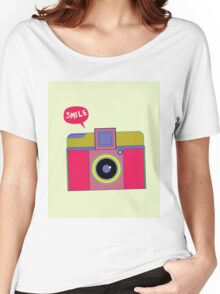 smile camera Women's Relaxed Fit T-Shirt