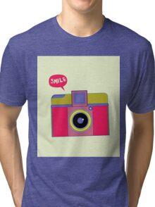 smile camera Tri-blend T-Shirt