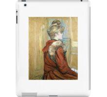 Henri de Toulouse-Lautrec,  GIRL IN A FUR, MISS JEANNE FONTAINE iPad Case/Skin