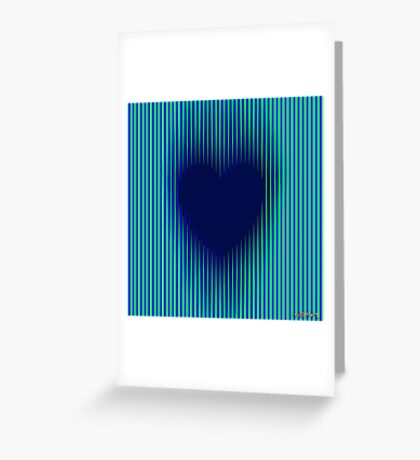 Trance Gothic Heart Greeting Card