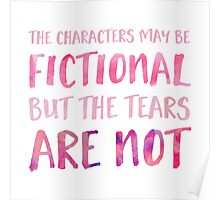 The Characters May Be Fictional (Pink) Poster