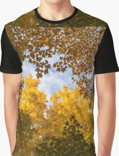 Golden Autumn Canopy - a Window to the Sky Horizontal Graphic T-Shirt