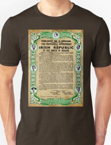 1916 EASTER RISING PROCLAMATION PRINT T-Shirt