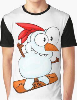 Snowboarding snowman Graphic T-Shirt