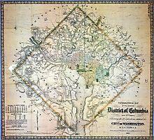 Map of Washington, DC  Photographic Print