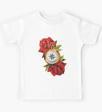 Rose & Compass Traditional Kids Tee