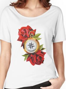 Rose & Compass Traditional Women's Relaxed Fit T-Shirt