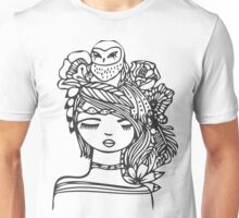 Owl Girl Unisex T-Shirt