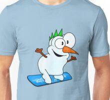 Snowboarding snowman Unisex T-Shirt