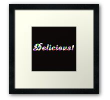 Candy Crush Delicious ( fun Comedy Humour ) Framed Print