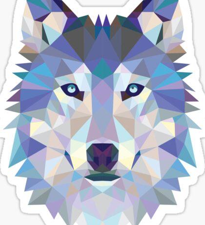 Polygonal Dire Wolf Sticker