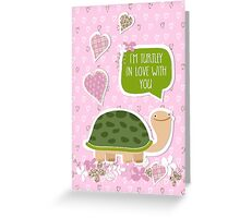 Funny Valentine's Day Card - Cute Turtle Cartoon Greeting Card