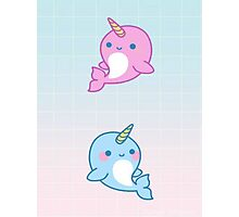 Cute Whales Photographic Print