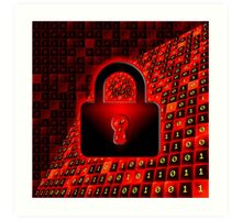 Secure data concept Art Print