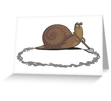 Clever Snail Greeting Card