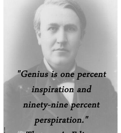 Genius - Thomas Edison Sticker