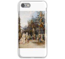 Cesare Auguste Detti - the party iPhone Case/Skin