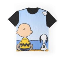 Snoopy And Charlie Brown Graphic T-Shirt