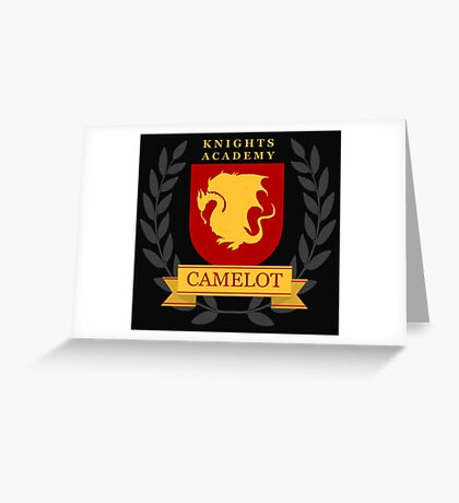 Camelot Knights Academy Print Greeting Card