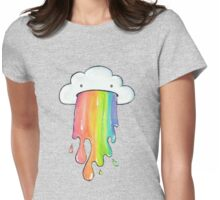 Rainbow cloud Womens Fitted T-Shirt
